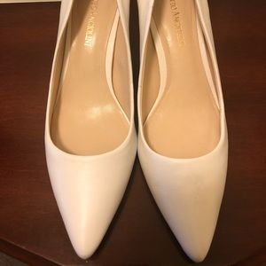 Enzo Angiolini Whit Pumps. 2 Inch Heel, Size 7M.